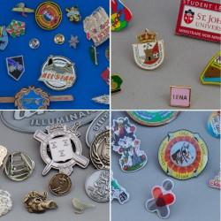 zacht emaille pins, hard emaille pins, bedrukte pins en reliëf pins in een foto