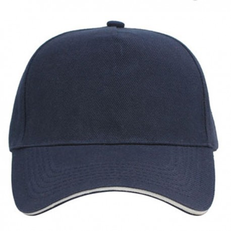 Navy white, sandwich caps, 5 panels