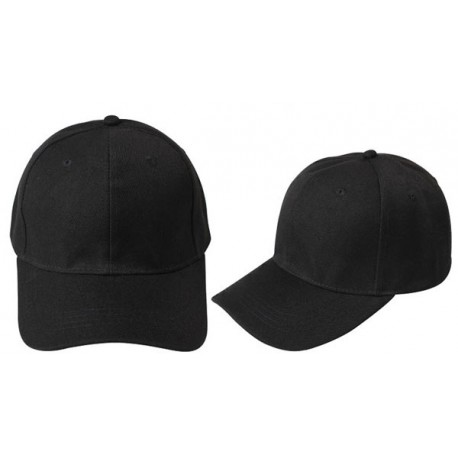 Black, classic baseball caps, deluxe, 6 panels