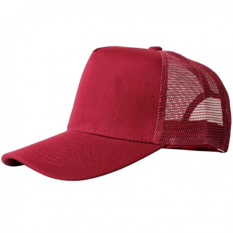 Bordeaux red,  truck caps, 5 panels, cotton, with snapback