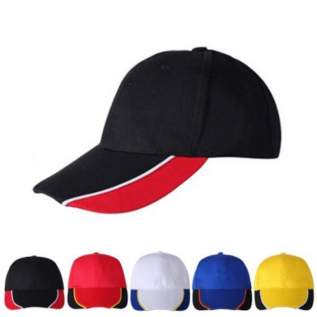 Baseball caps, 6 panels, three colors combination