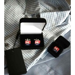 Cufflinks, 100% custom-made with your own logo's and text