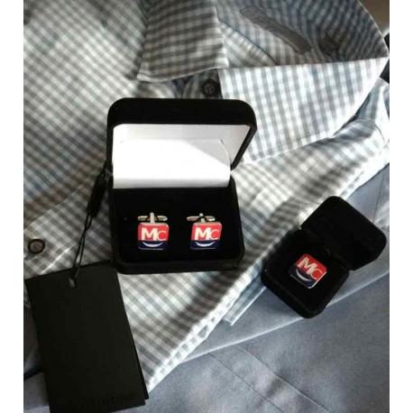 Manchetknopen in juwel velvet doos met uw eigen logo