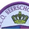 vergroten foto van deel van een gewevem badge