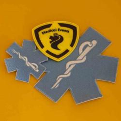 Geborduurde badges, patches of emblemen  voor  Hulpverleners