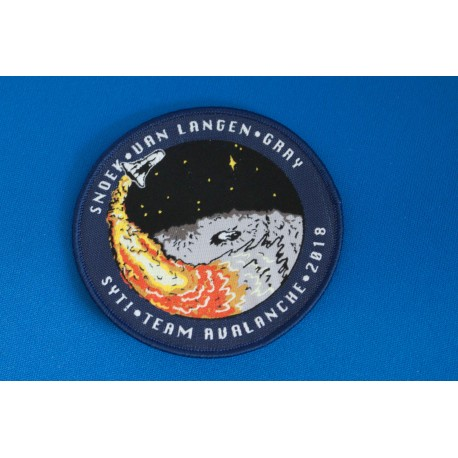 Embroiedered badges, pachtes en emblems for space project, events and mission, custom-made