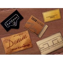 Leather badges, custom made