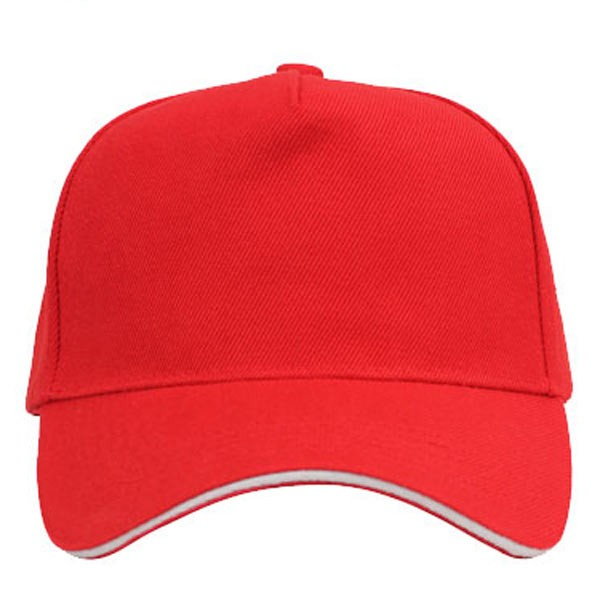 Red + white, 5 panels sandwich caps