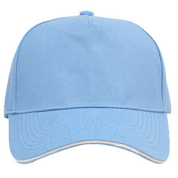 Sky blue + white, 5 panels sandwich caps