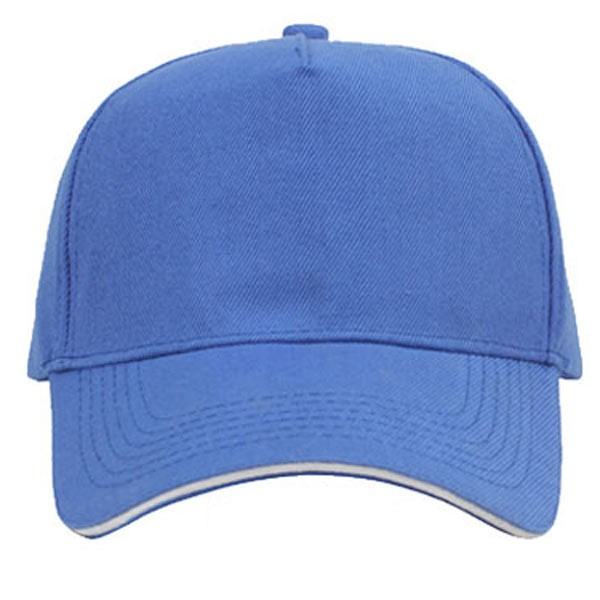 Loyal blue + white, 5 panels sandwich caps