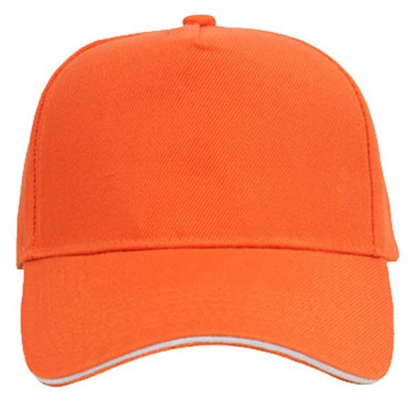 Orange + white, 5 panels sandwich caps