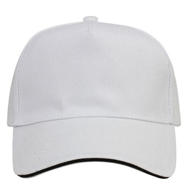 White + black 5 panels sandwich caps