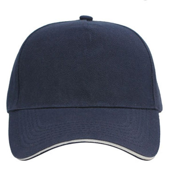 Navy + wit, 5 panels sandwich caps