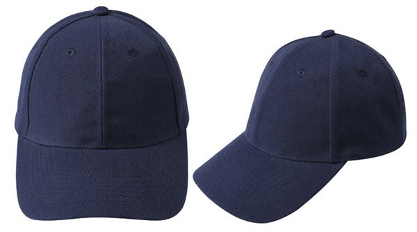 Navy blue, 6 panel baseball caps