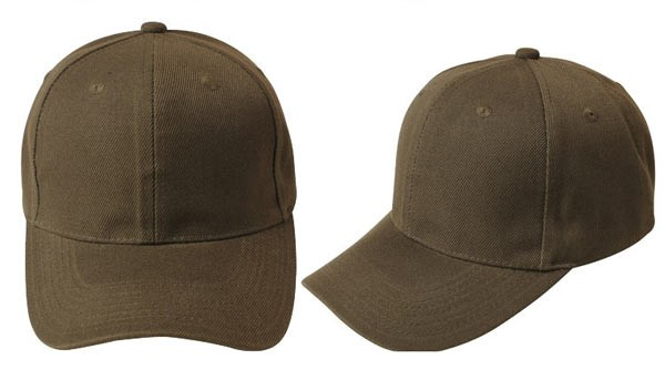 Olive green, 6 panel baseball caps