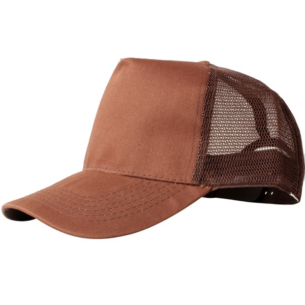 Truck caps, 5 panels, brown