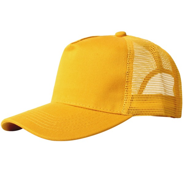 Truck caps, 5 panels, geel