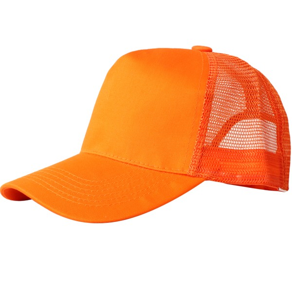 Truck caps, 5 panels, orange