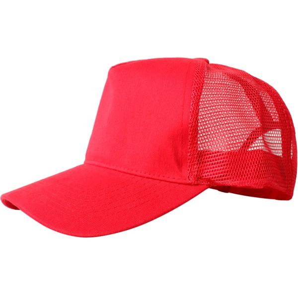 Truck caps, 5 panels, red