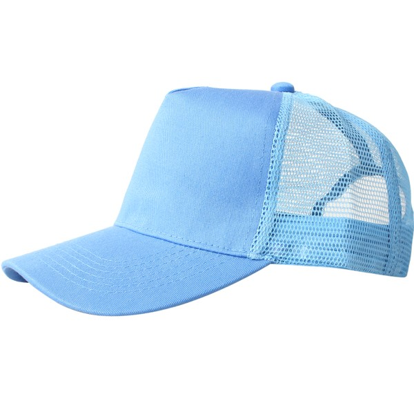 Truck caps, 5 panels, sky blue