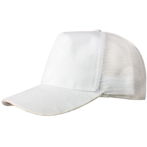 Truck caps, 5 panels, white