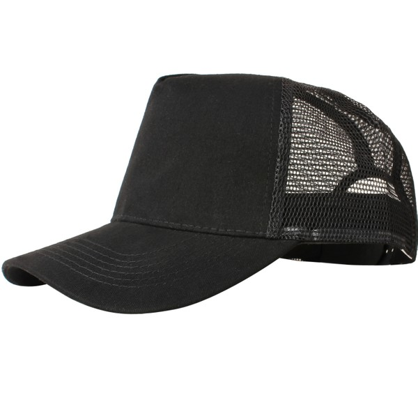 Truck caps, 5 panels, black
