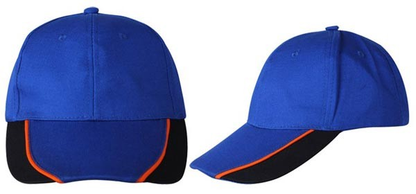 Baseball caps, 6 panels,  loyal blue, black, red combination
