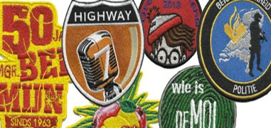 The specialist in embroidering badges, patches  and emblems, cutsom-made, starting from 10 pcs.